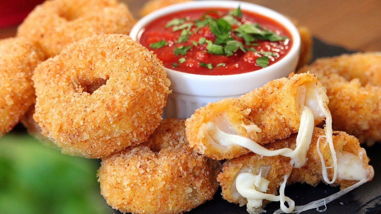 cara membuat onion rings