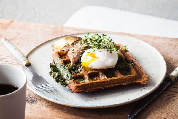 cara membuat waffle - savoury waffle