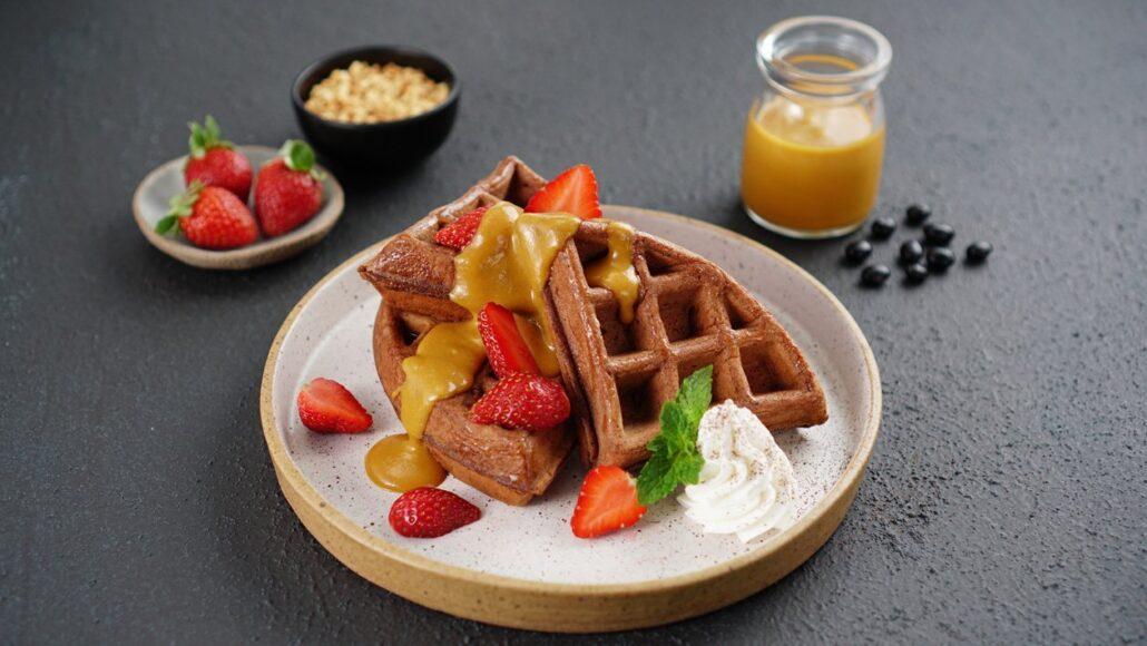 cara membuat waffle - waffle